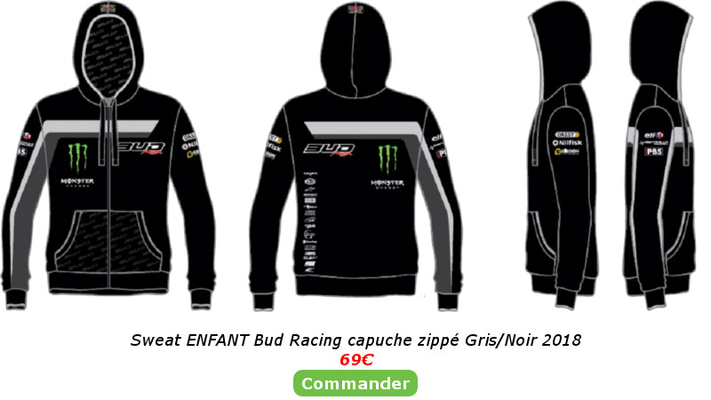 Sweat Enfant Bud Racing Gris