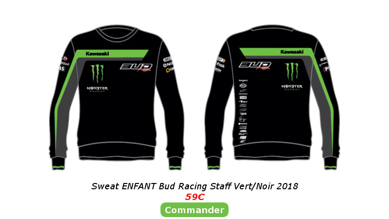 Sweat Enfant Bud Racing Staff Vert