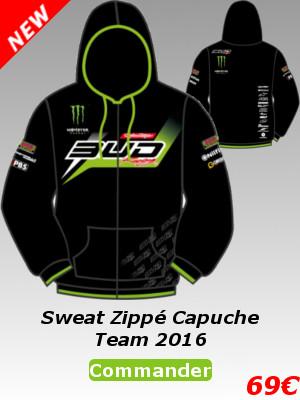 Sweat zippé capuche Team